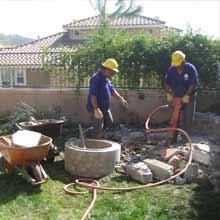 Backyard Demo with Jackhammer