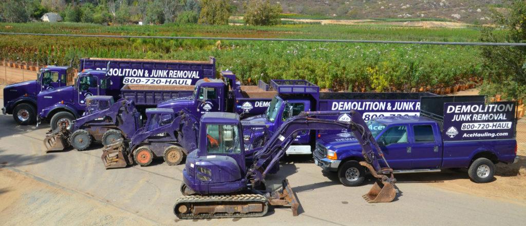 Landscape Demolition & Removal San Diego, CA | Ace Hauling